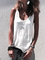 Crew Neck Casual Solid Sleeveless Top