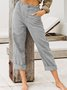 Casual Plain Straight Leg Pants