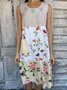 Sleeveless Floral-Print Casual Dress