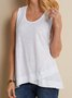 Cotton-Blend Solid Casual Top