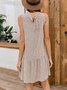 White Boho Shift Dress
