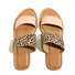 Leopard Flat Heel Leather Summer Slippers