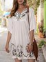 Sundress Shift Holiday Embroidered Mini Dress