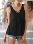 Casual Sleeveless Shift Top