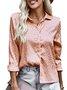 Long Sleeve Shirt Collar Shift Top