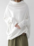 Long Sleeve Casual Cotton-Blend Top