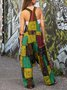 Tribal Color-Block One-Pieces