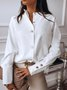 Shirt Collar Long Sleeve Blouse