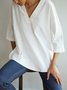 V Neck 3/4 Sleeve Casual Top