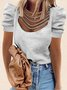Short Sleeve Shift Casual Top