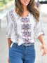 Casual 3/4 Sleeve Tribal Casual Holiday Beach Shift Summer Top