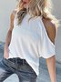 Casual Daily Plain Short Sleeve Top