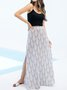 Casual Shift Geometric Maxi Skirt